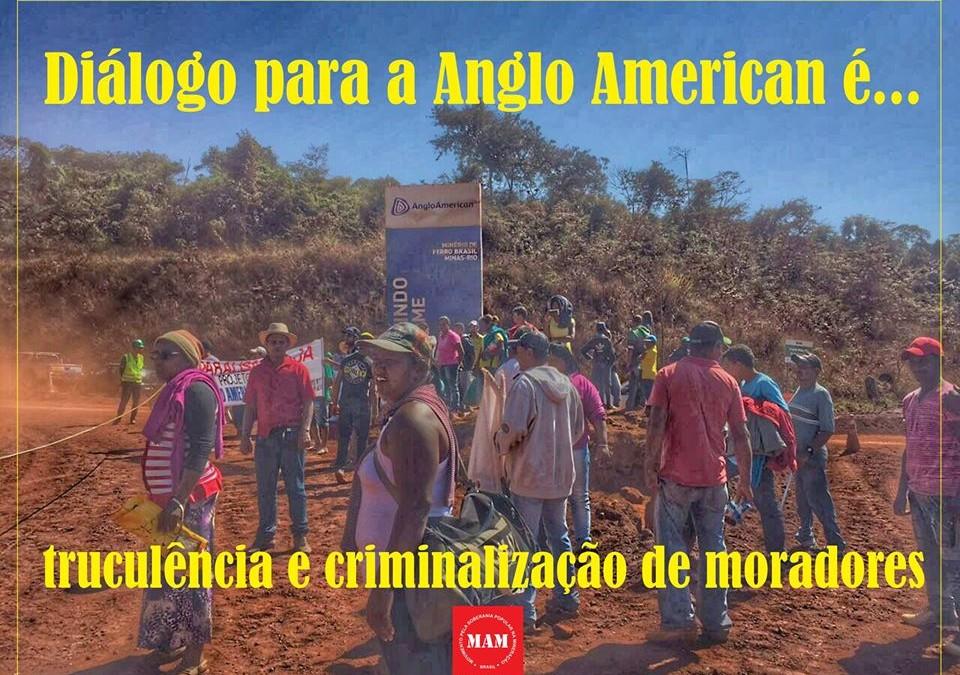 Atingidos pelo Projeto Minas Rio sofrem nova truculência da Anglo