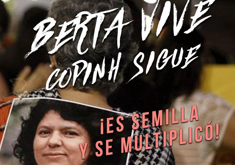 Declaração da Alba Movimentos: Berta não morreu, é semente, se multiplicou