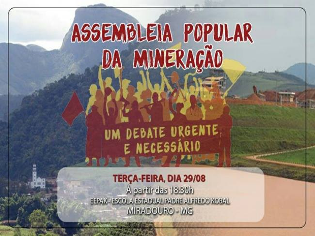 MG: Assembleias Populares agitam a luta contra o avanço da mineração na Serra do Brigadeiro