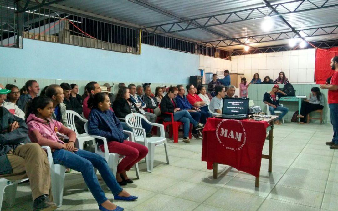 MG: Assembleia Popular em comunidade de Miradouro discute impactos da mineração