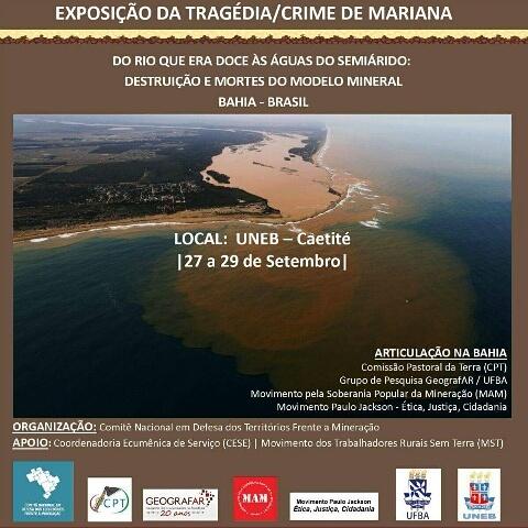 Do Rio que era Doce: Exposição traz lama da Samarco à Caetité