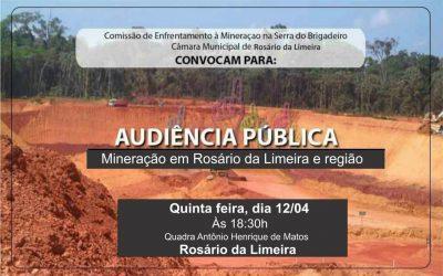 Audiência Pública: Mineração em Rosário da Limeira e Região