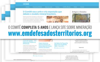 Comitê lança site sobre mineração