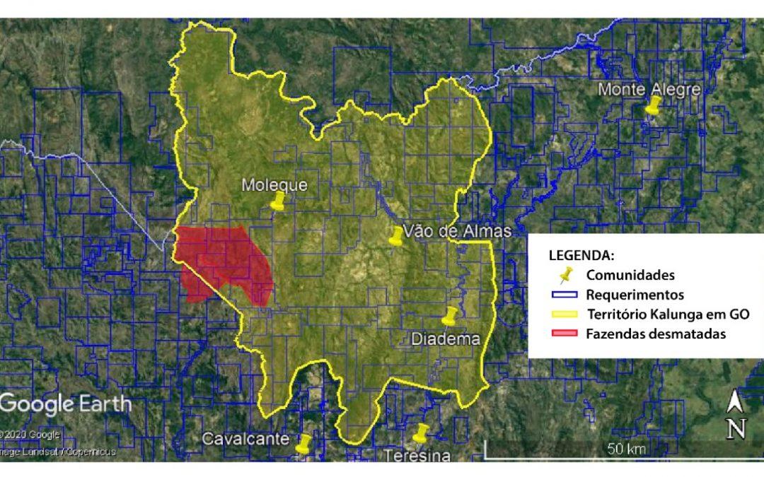 Denúncia: território Kalunga sofre desmatamento criminoso em plena Semana do Meio Ambiente