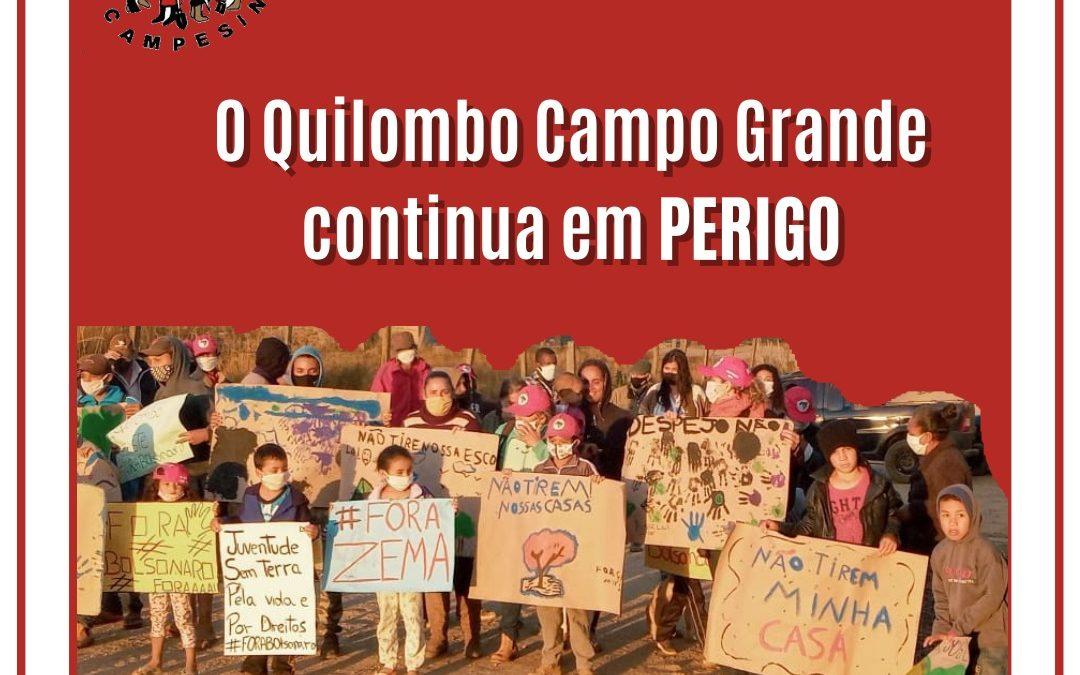 Nota de Repúdio ao Despejo Ilegal das famílias Sem Terra do Quilombo Campo Grande – MG