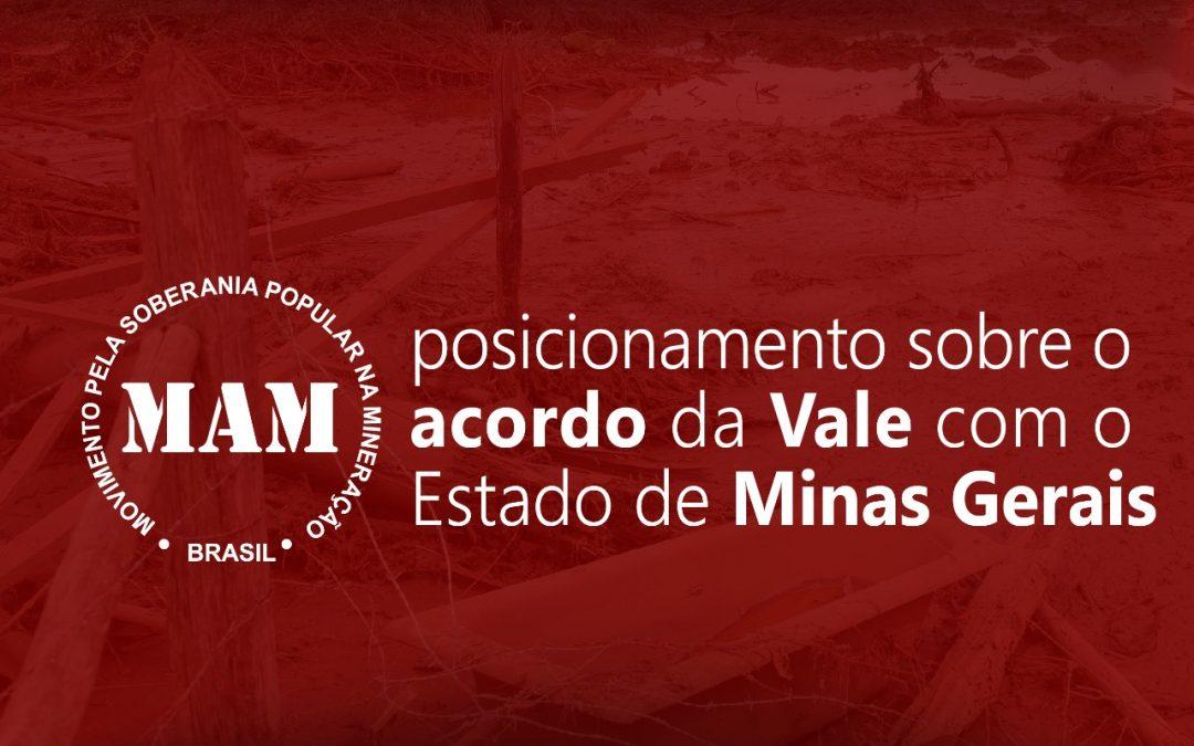 Posicionamento do MAM sobre acordo da Vale com o Estado de Minas Gerais