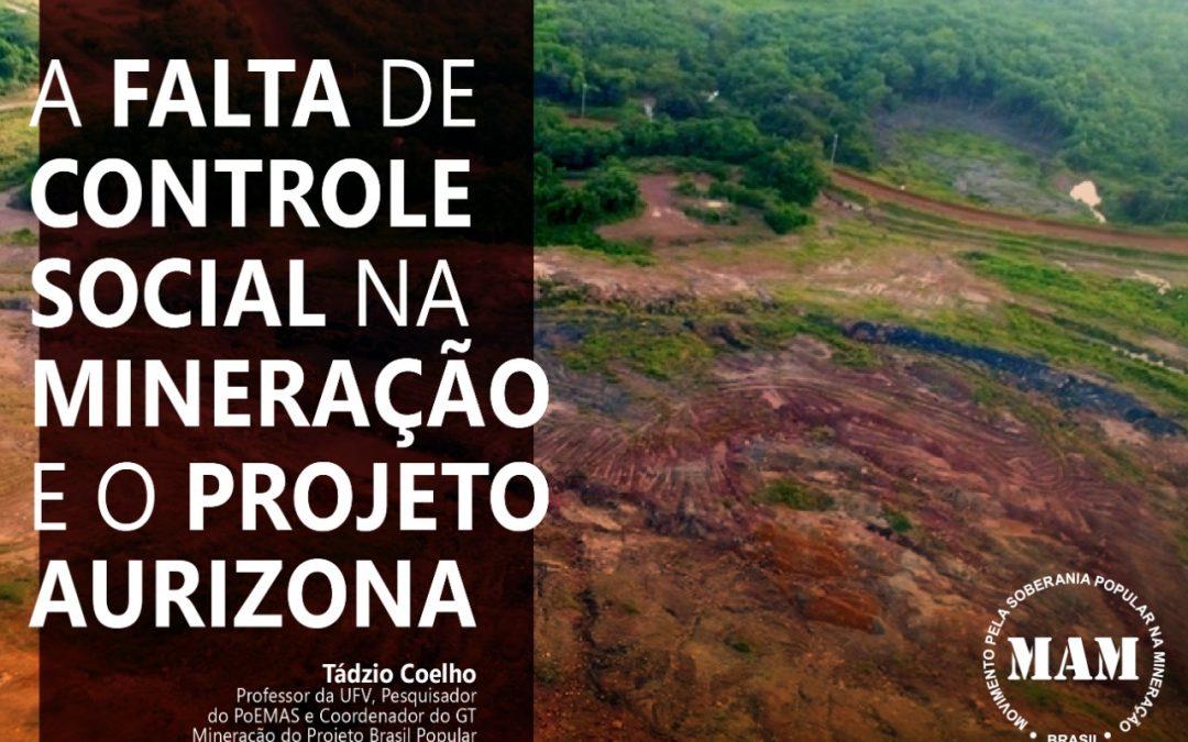 Artigo: O modelo mineral brasileiro e o Projeto Aurizona