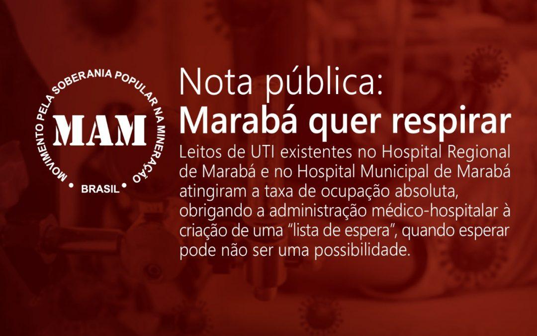 Nota pública: Marabá quer respirar